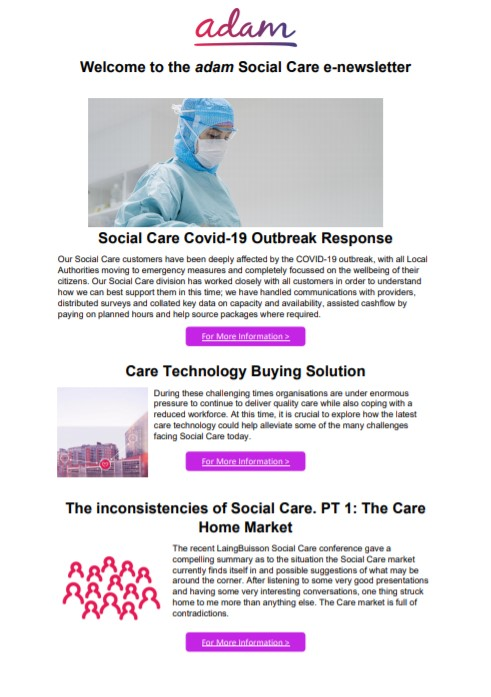 Social care Spring Newsletter