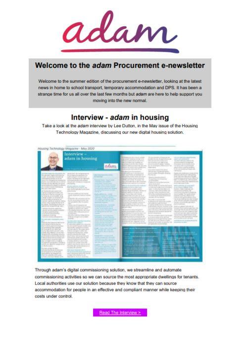 procurement Summer Newsletter