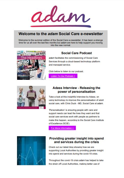 Social care Summer Newsletter