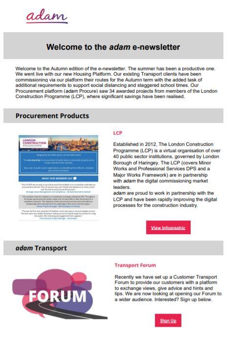 procurement autumn Newsletter