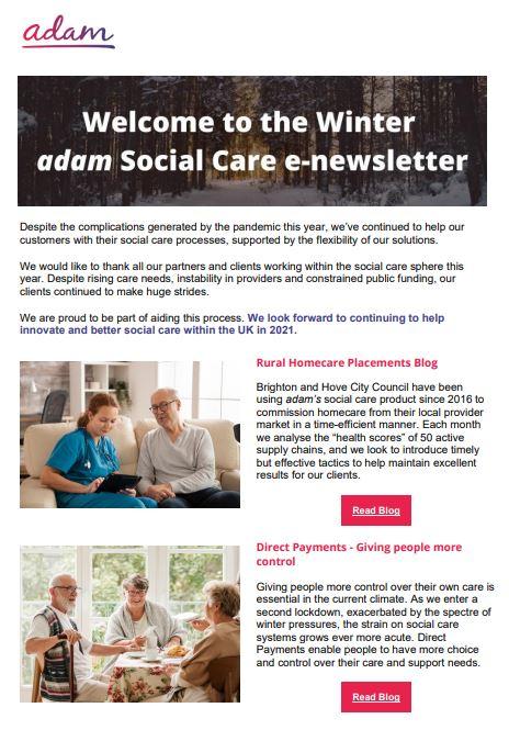 Social care Winter Newsletter
