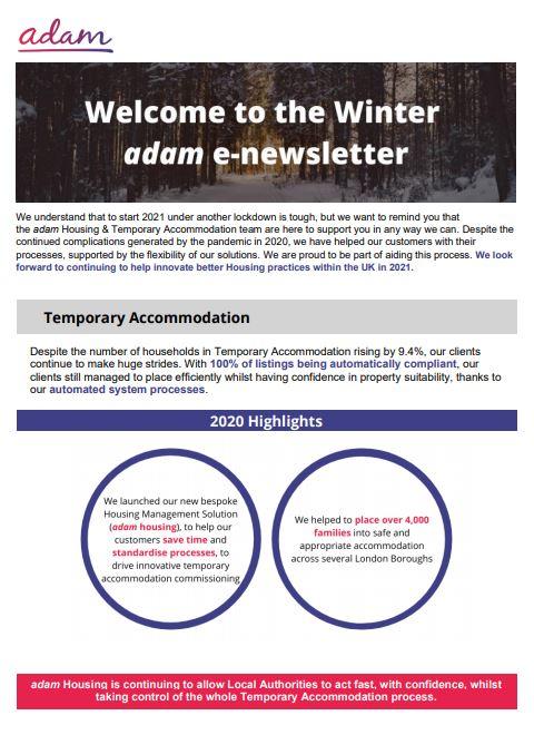 housing winter Newsletter