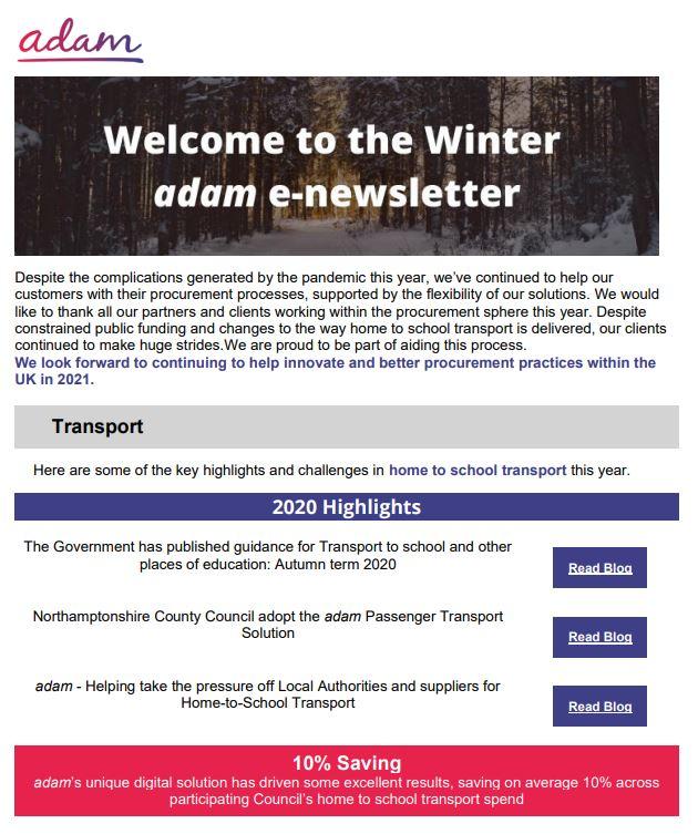 transport Winter Newsletter
